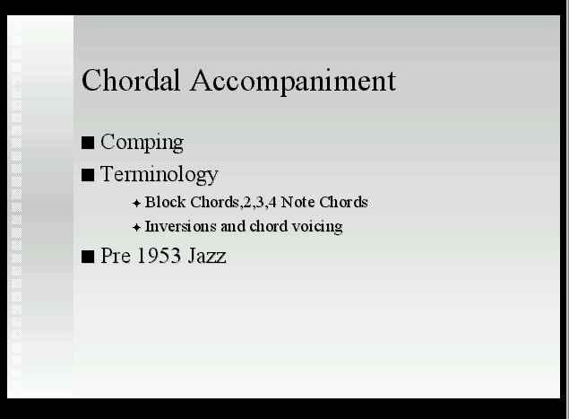 Chordal Accompaniment
